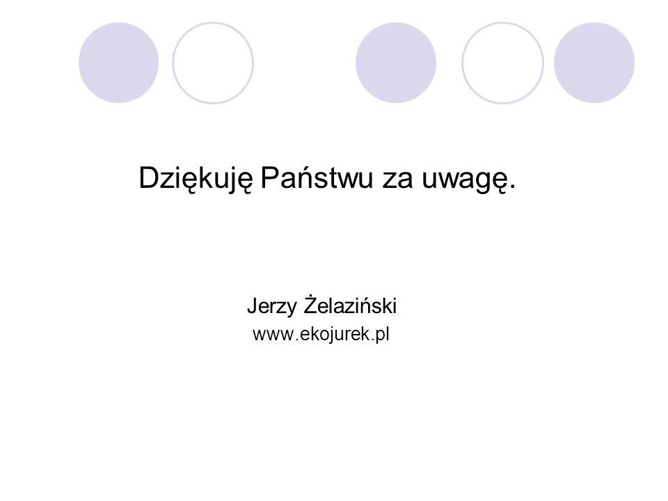 Dziękuję Państwu za uwagę. Jerzy Żelaziński www.ekojurek.pl
