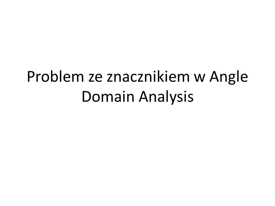 Problem ze znacznikiem w Angle Domain Analysis