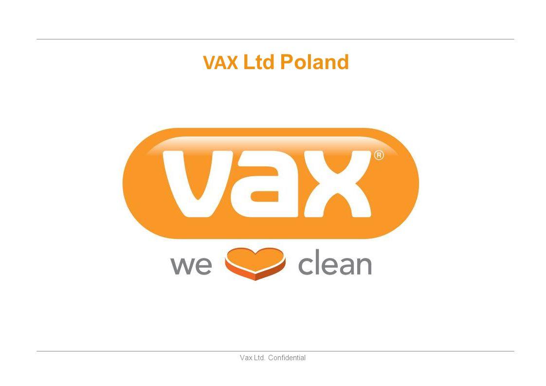 Vax Ltd. Confidential Vax Oferta Produktowa 2010