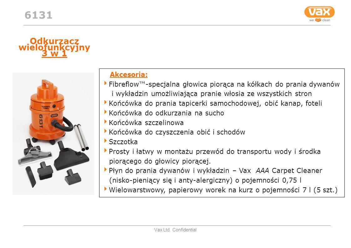 Vax Ltd. Confidential Odkurzacz wielofunkcyjny 3 w 1 Akcesoria: Fibreflow-specjalna głowica piorąca na kółkach do prania dywanów i wykładzin umożliwia
