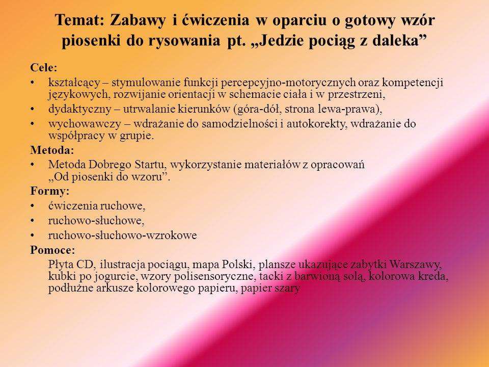 ZAJECIA WPROWADZAJĄCE Piosenka na powitanie: W co się bawić Marta Bogdanowicz; płyta I - piosenka nr 3 Nauczyciel: Czy (Karol) jest dziś z nami.