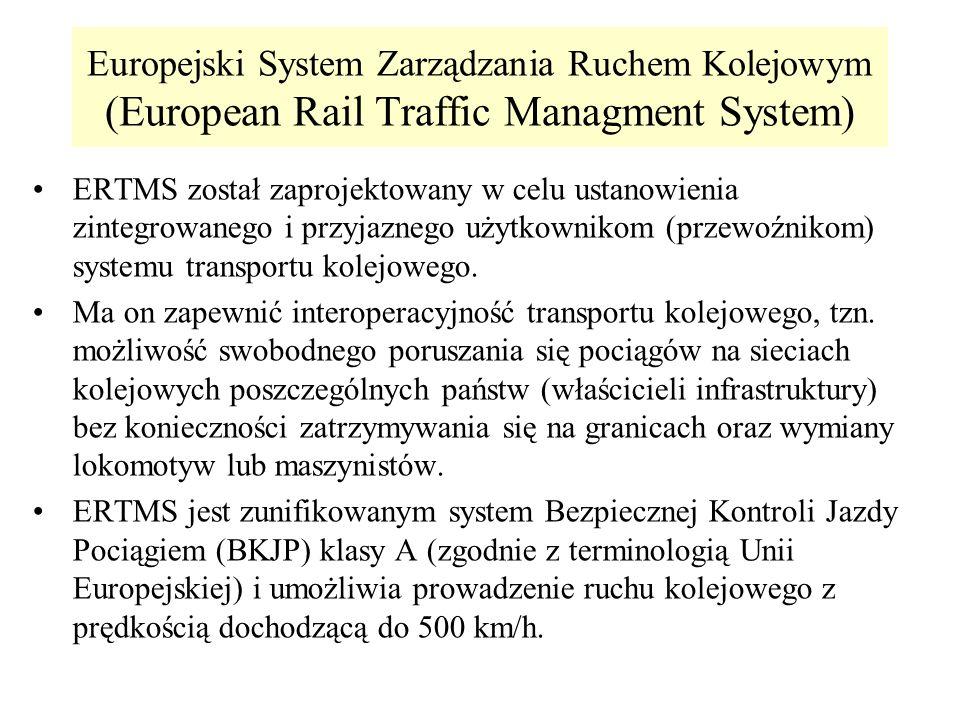 Europejski System Zarządzania Ruchem Kolejowym (European Rail Traffic Managment System) ERTMS został zaprojektowany w celu ustanowienia zintegrowanego