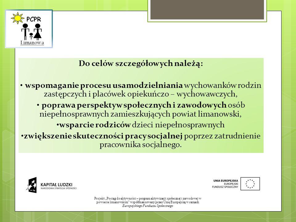 Projekt Pociąg do aktywności – program aktywizacji społecznej i zawodowej w powiecie limanowskim współfinansowany przez Unię Europejską w ramach Europ
