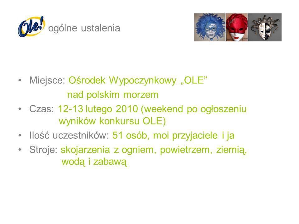 Miejsce: Ośrodek Wypoczynkowy OLE nad polskim morzem Czas: 12-13 lutego 2010 (weekend po ogłoszeniu wyników konkursu OLE) Ilość uczestników: 51 osób,