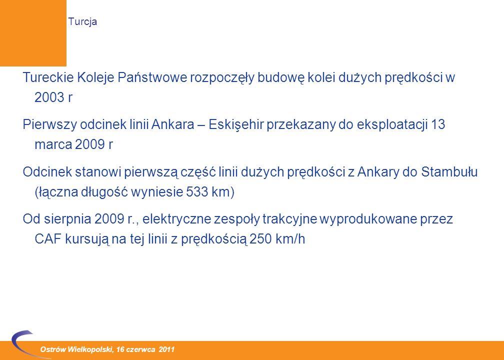 Ostrów Wielkopolski, 16 czerwca 2011 Sieć linii dużych prędkości systematycznie się rozwija Zmienia się rozkład geograficzny realizowanych inwestycji