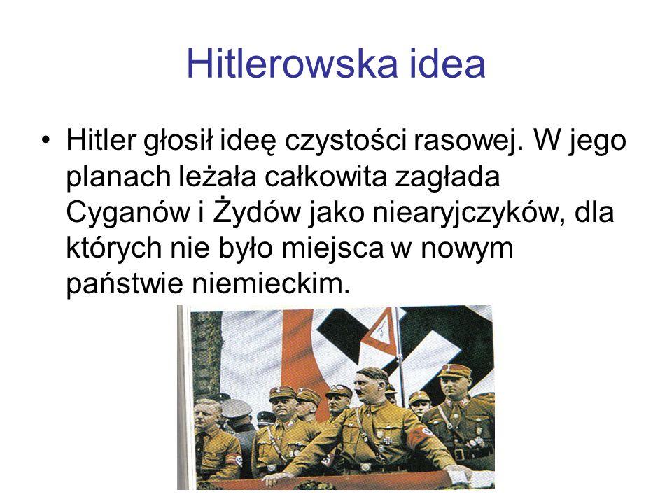 Hitlerowska idea Hitler głosił ideę czystości rasowej.
