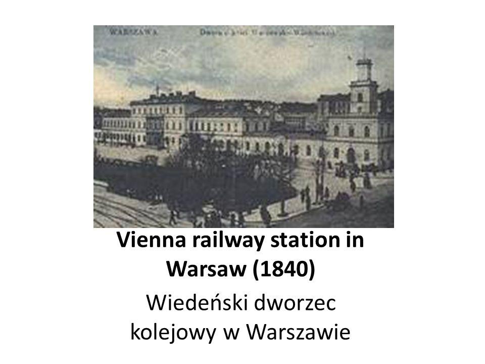 First train in Poland Pierwszy pociąg w Polsce