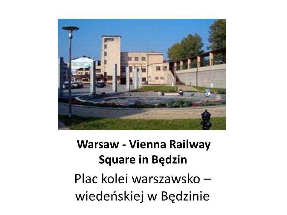 The railway station in Będzin (1915) Dworzec kolejowy w Będzinie
