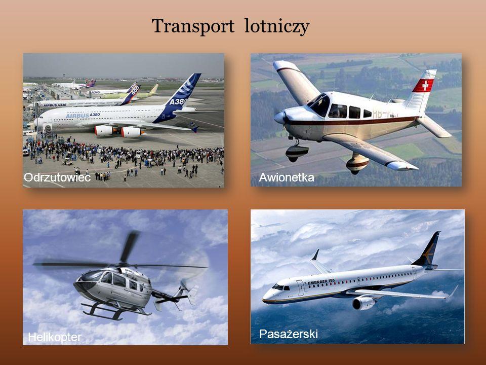 Transport wodny Transport wodny zajmuje się przede wszystkim przewozem ładunków, w znacznie mniejszy stopniu przewozem pasażerów.