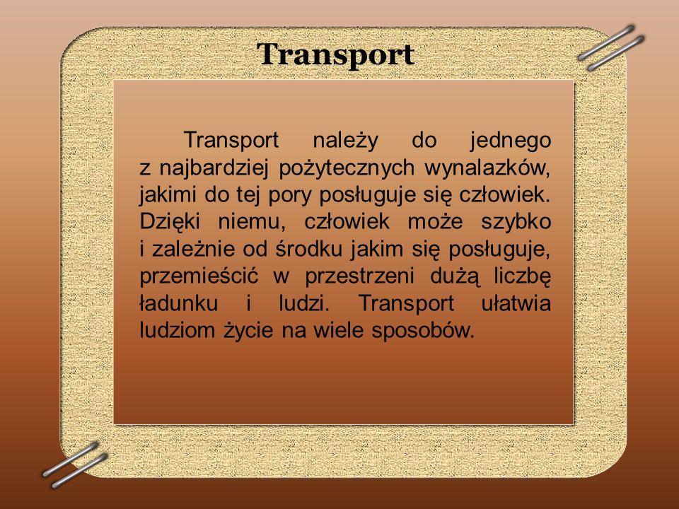 Transport kolejowy Najlepszym środkiem komunikacji umożliwiającym przemieszczanie się dużej ilości ludzi i towarów jest kolej.