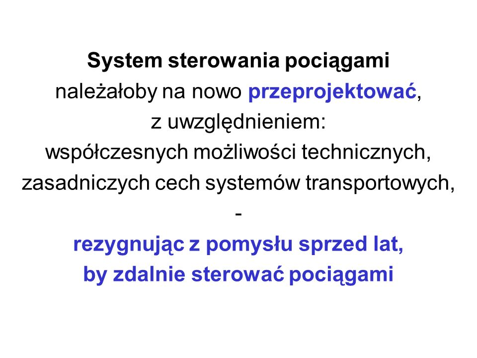 Kryteria analizy systemów transportowych