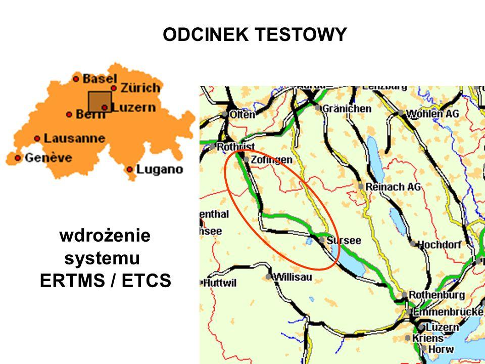 Składniki systemu ERTMS / ETCS E uropean R ailway T rain M anagement S ystem E uropean T rain C ontrol S ystem ETCS - system sterowania pociągiem GSM-R - system łączności radiowej między pociągiem i centralą sterowania ETML - europejska warstwa zarządzania ruchem interface - pomiędzy narodowymi systemami zarządzania