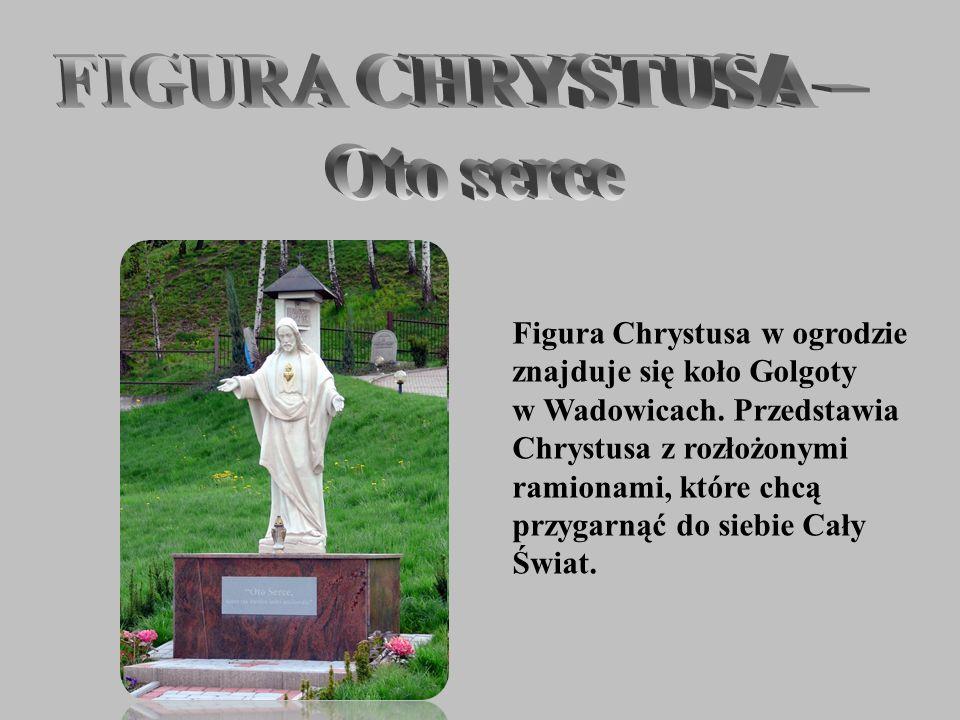 Figura Chrystusa w ogrodzie znajduje się koło Golgoty w Wadowicach. Przedstawia Chrystusa z rozłożonymi ramionami, które chcą przygarnąć do siebie Cał