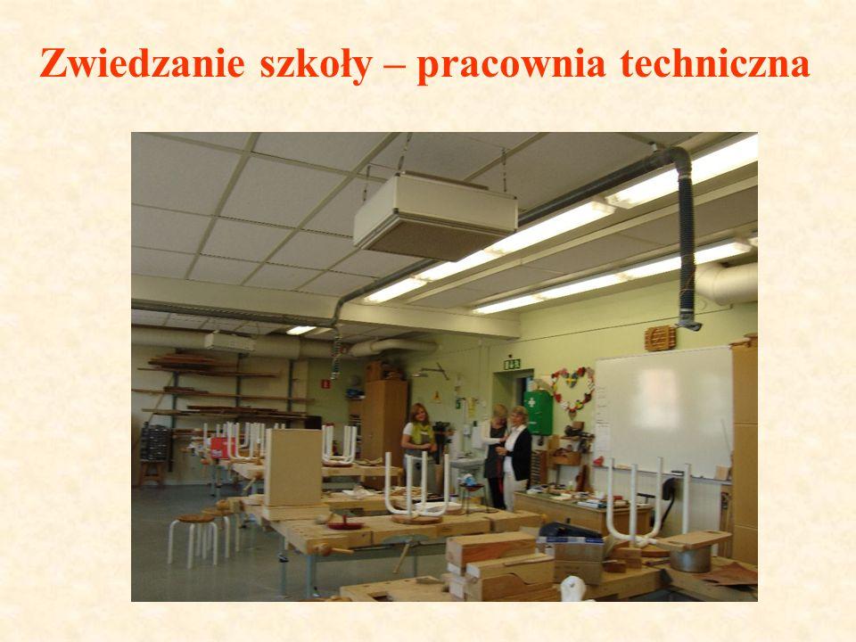 Zwiedzanie szkoły – pracownia techniczna