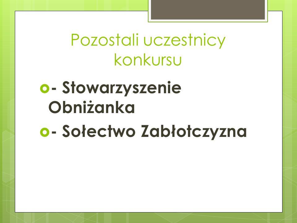 Pozostali uczestnicy konkursu - Stowarzyszenie Obniżanka - Sołectwo Zabłotczyzna