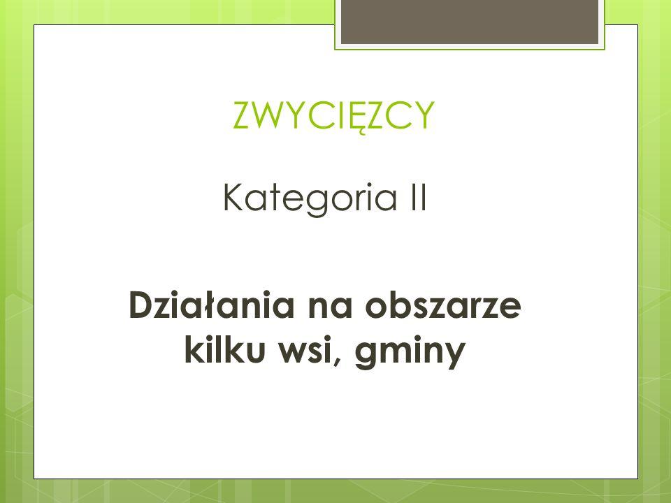ZWYCIĘZCY Kategoria II Działania na obszarze kilku wsi, gminy