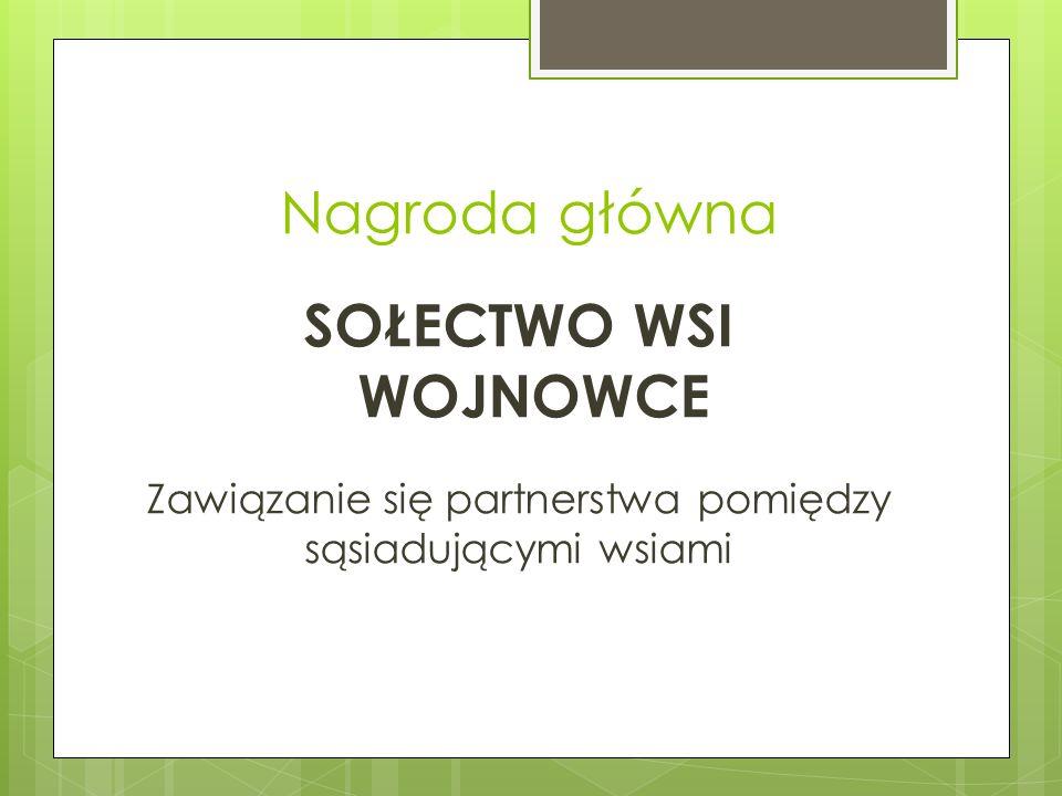 Nagroda główna SOŁECTWO WSI WOJNOWCE Zawiązanie się partnerstwa pomiędzy sąsiadującymi wsiami
