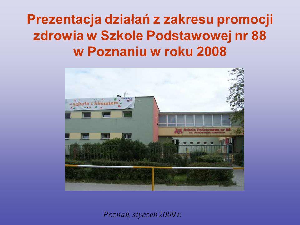 INFORMACJE O SZKOLE: Szkoła Podstawowa nr 88 w Poznaniu powstała w 1964 r.