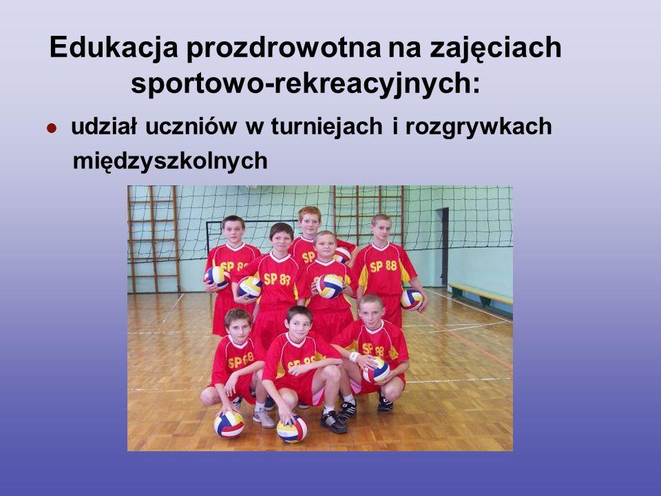 Edukacja prozdrowotna na zajęciach sportowo-rekreacyjnych: udział uczniów w turniejach i rozgrywkach międzyszkolnych