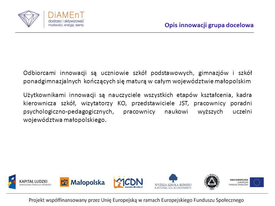 Projekt DiAMEnT został laureatem w konkursie Dobre Praktyki EFS 2012 zorganizowanym przez Ministerstwo Rozwoju Regionalnego.