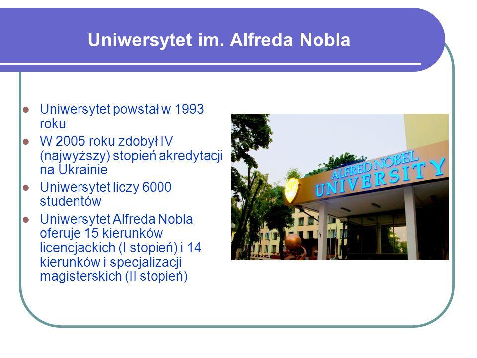 Uniwersytet powstał w 1993 roku W 2005 roku zdobył IV (najwyższy) stopień akredytacji na Ukrainie Uniwersytet liczy 6000 studentów Uniwersytet Alfreda