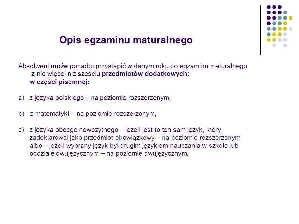 Informowanie o wynikach egzaminu maturalnego 1.