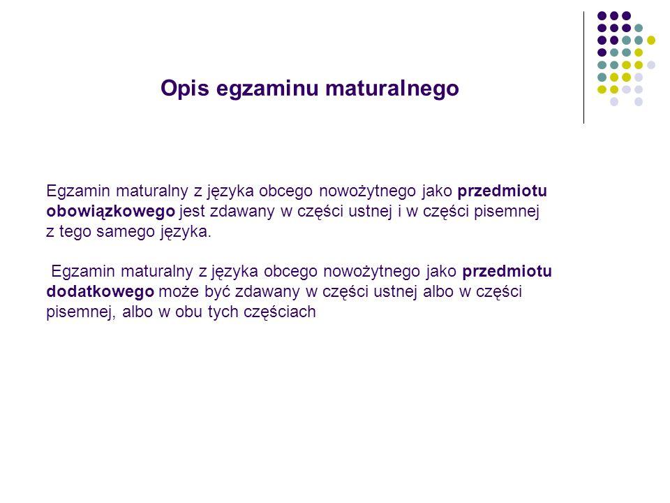 Dostosowanie warunków i form przeprowadzania egzaminu maturalnego 2.