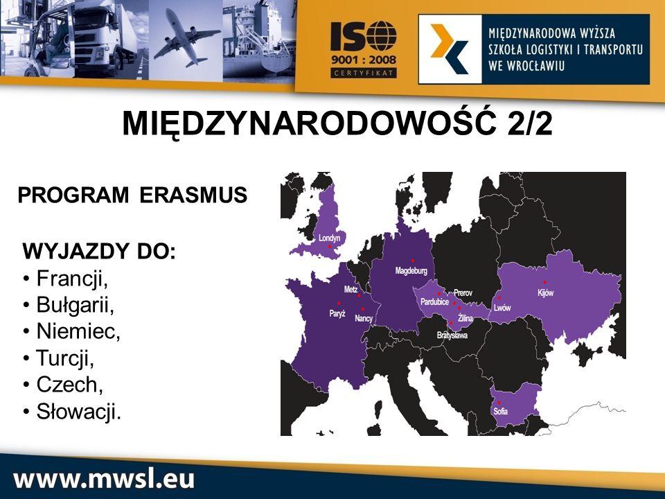PROGRAM ERASMUS WYJAZDY DO: Francji, Bułgarii, Niemiec, Turcji, Czech, Słowacji. MIĘDZYNARODOWOŚĆ 2/2