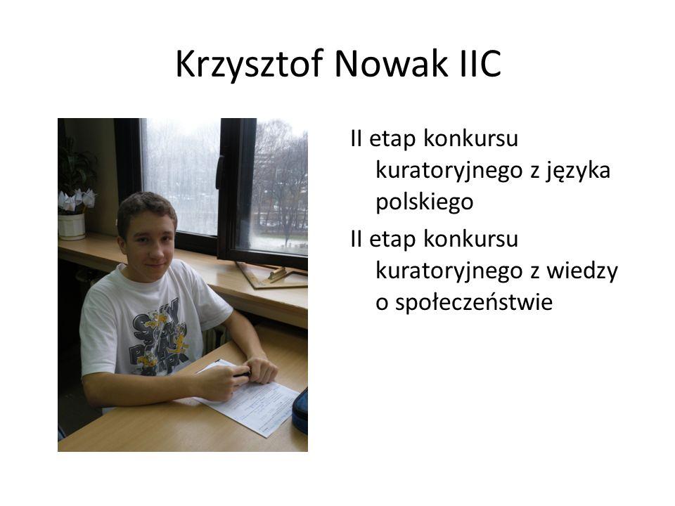 Wojciech Szwajnoch IIIC II etap konkursu kuratoryjnego z języka polskiego