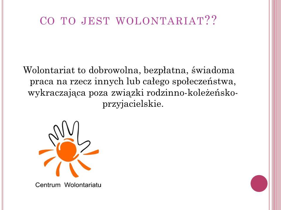 K IM JEST WOLONTARIUSZ ?.