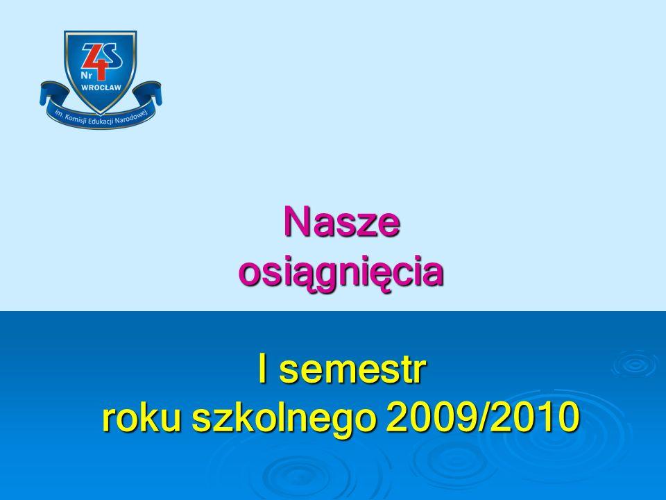 Nasze osiągnięcia I semestr roku szkolnego 2009/2010