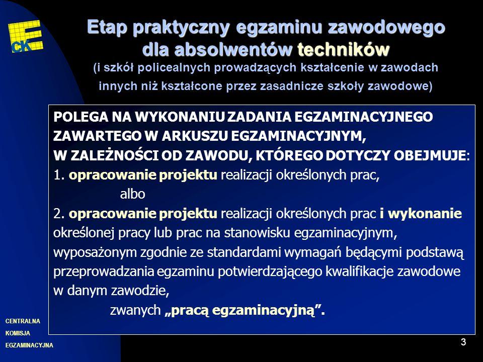 EGZAMINACYJNA CENTRALNA KOMISJA Deklaracja 14