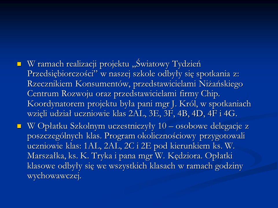 RCEZ przystąpiło także do projektu organizowanego przez Ministerstwo Sprawiedliwości Ułatwienie dostępu do wymiaru sprawiedliwości RCEZ przystąpiło także do projektu organizowanego przez Ministerstwo Sprawiedliwości Ułatwienie dostępu do wymiaru sprawiedliwości Uczniowie: Tomasz Dziewa z 2D, Damian Smotryś z 2A, Jacek Pająk z 2B i Piotr Kołodziej z 2A pod opieką pana mgr A.