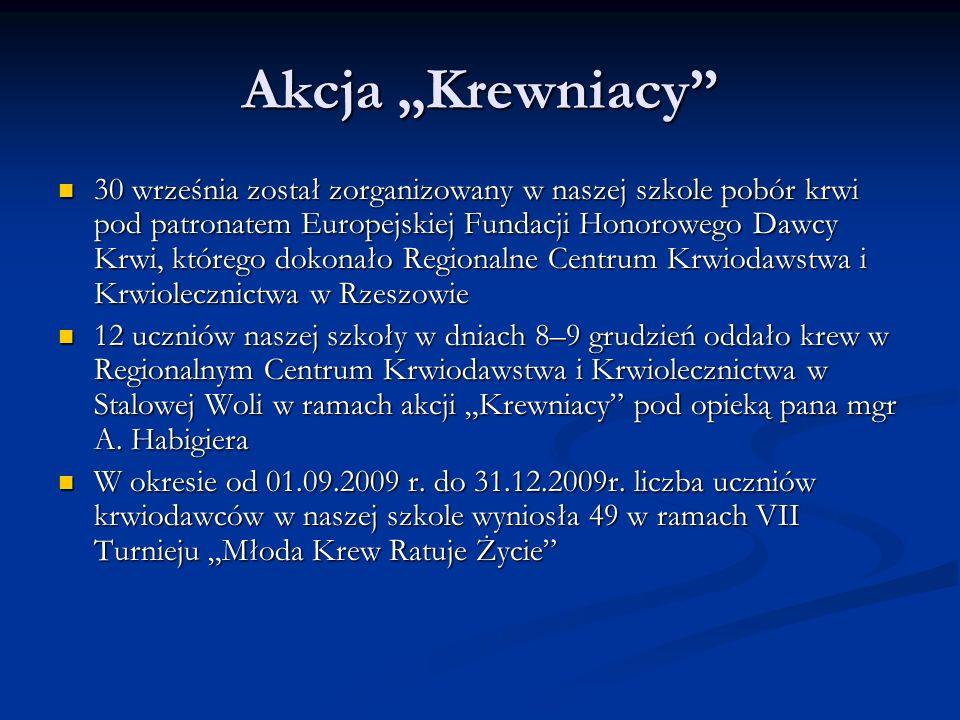 Wycieczki i wyjścia klasowe: Na początku października uczniowie klas maturalnych udali się na pielgrzymkę maturzystów do Częstochowy.