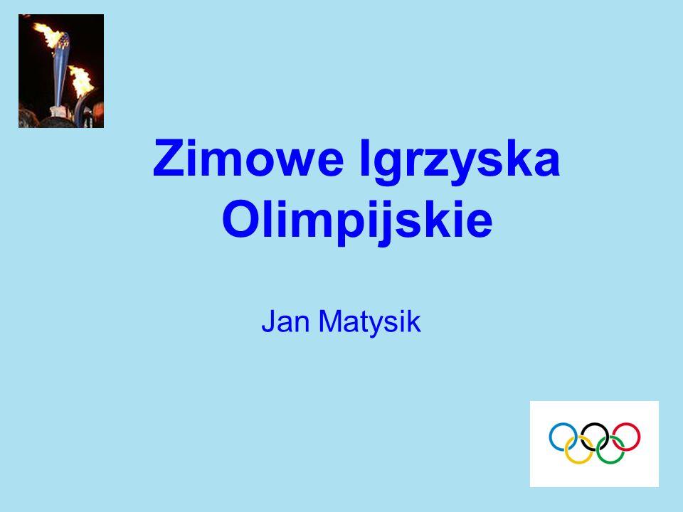 Zimowe Igrzyska Olimpijskie Jan Matysik