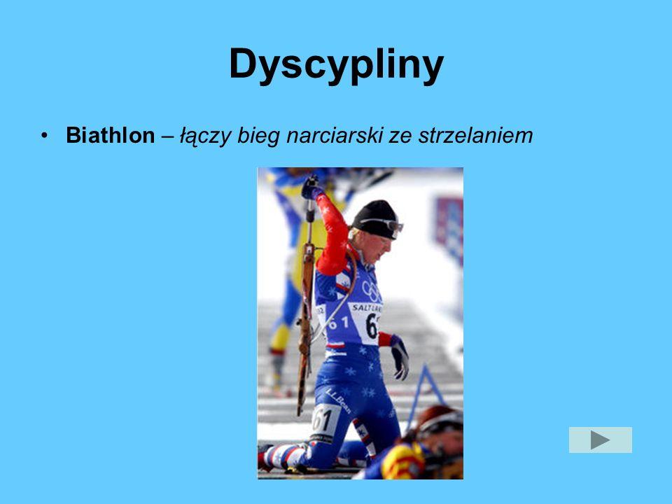 Dyscypliny Biathlon – łączy bieg narciarski ze strzelaniem