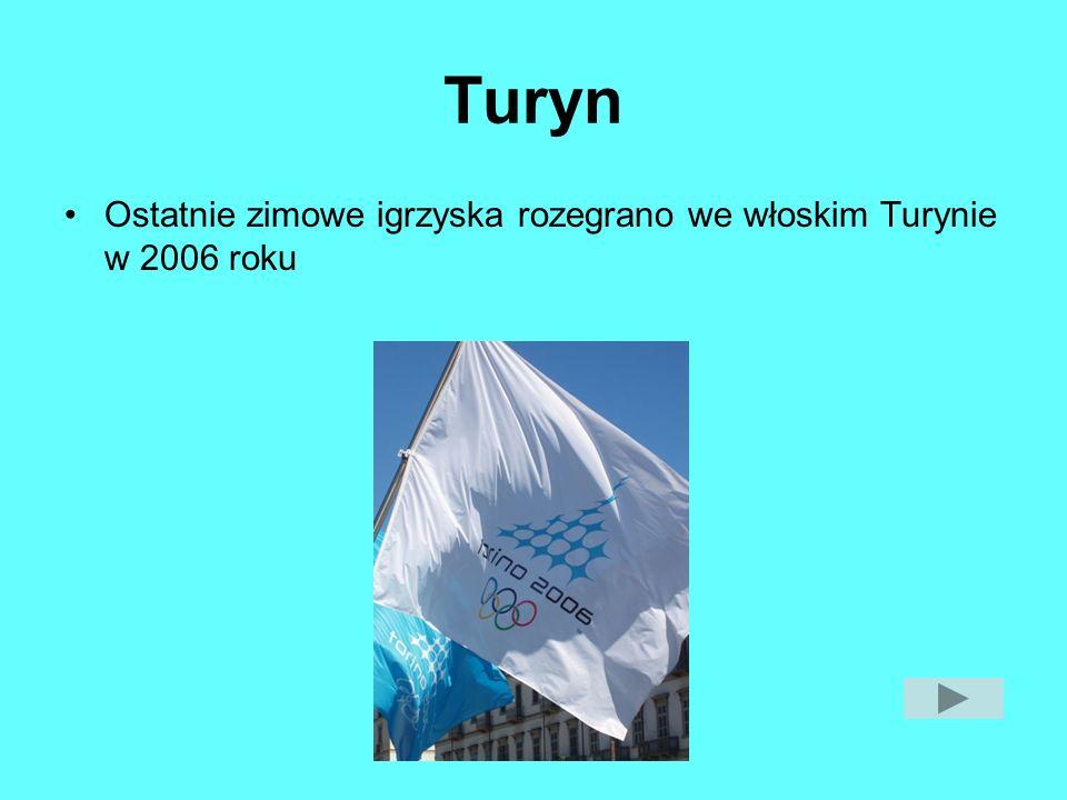 Turyn Ostatnie zimowe igrzyska rozegrano we włoskim Turynie w 2006 roku