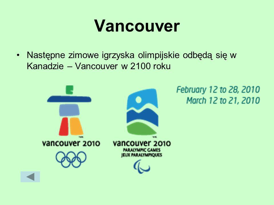 Vancouver Następne zimowe igrzyska olimpijskie odbędą się w Kanadzie – Vancouver w 2100 roku