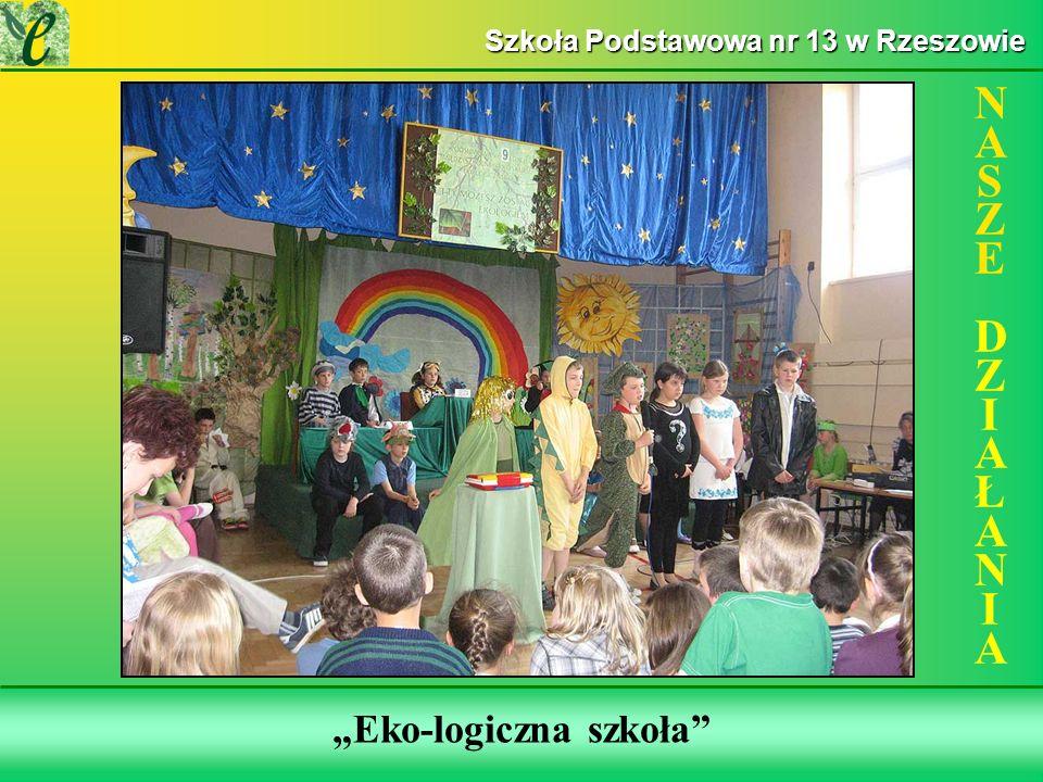 Wybrane działania w ramach realizacji projektu NASZE DZIAŁANIANASZE DZIAŁANIA Szkoła Podstawowa nr 13 w Rzeszowie Eko-logiczna szkoła