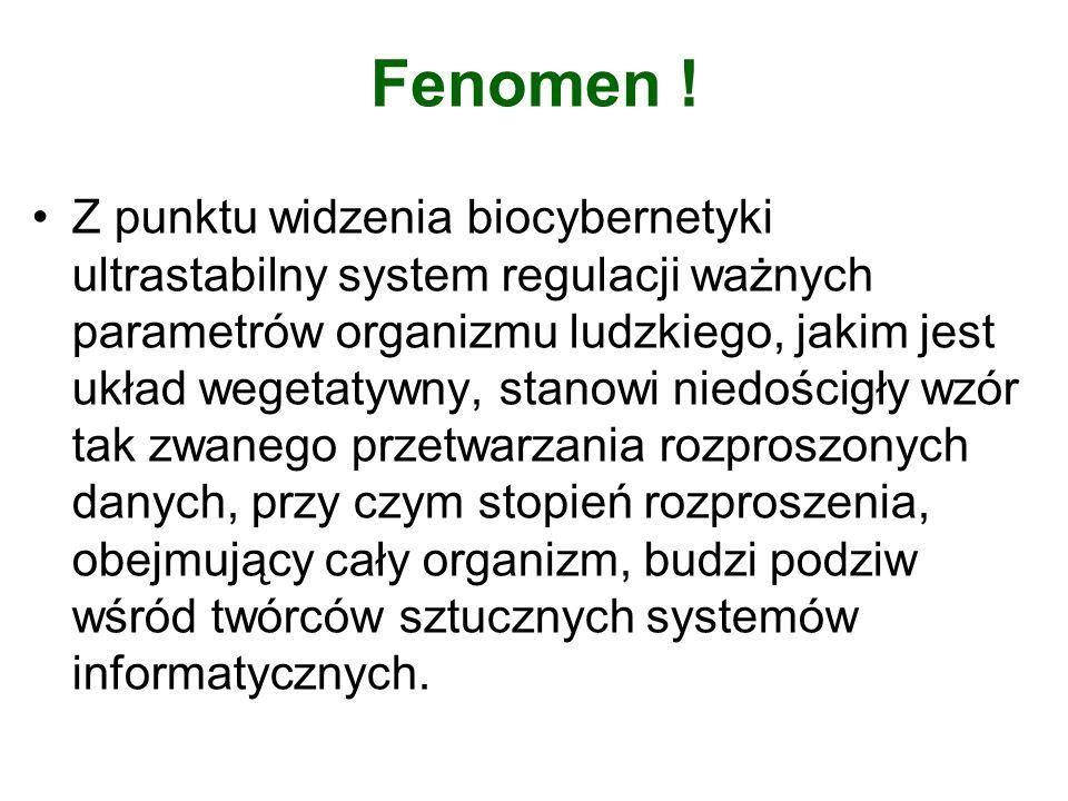 Fenomen ! Z punktu widzenia biocybernetyki ultrastabilny system regulacji ważnych parametrów organizmu ludzkiego, jakim jest układ wegetatywny, stanow
