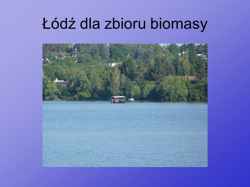 Łódź dla zbioru biomasy