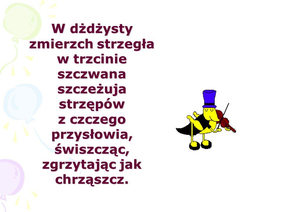 Czechów trzech spod wiejskich strzech milczy przez mil trzy.