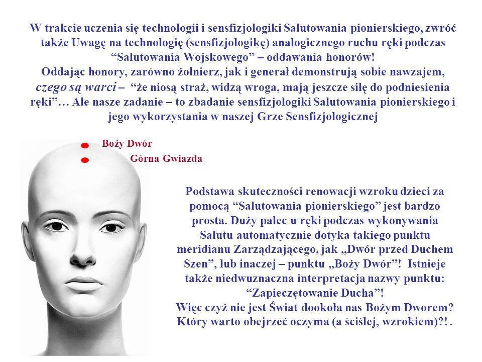 W trakcie uczenia się technologii i sensfizjologiki Salutowania pionierskiego, zwróć także Uwagę na technologię (sensfizjologikę) analogicznego ruchu
