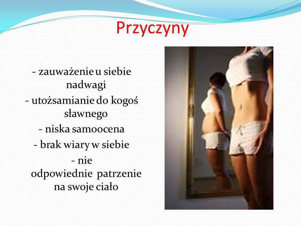Skutki - stopniowe wyniszczanie organizmu - zaburzenia w układzie pokarmowym - problemy z sercem - kłopoty z psychiką - bóle brzucha, łamliwość kości, większy cholesterol