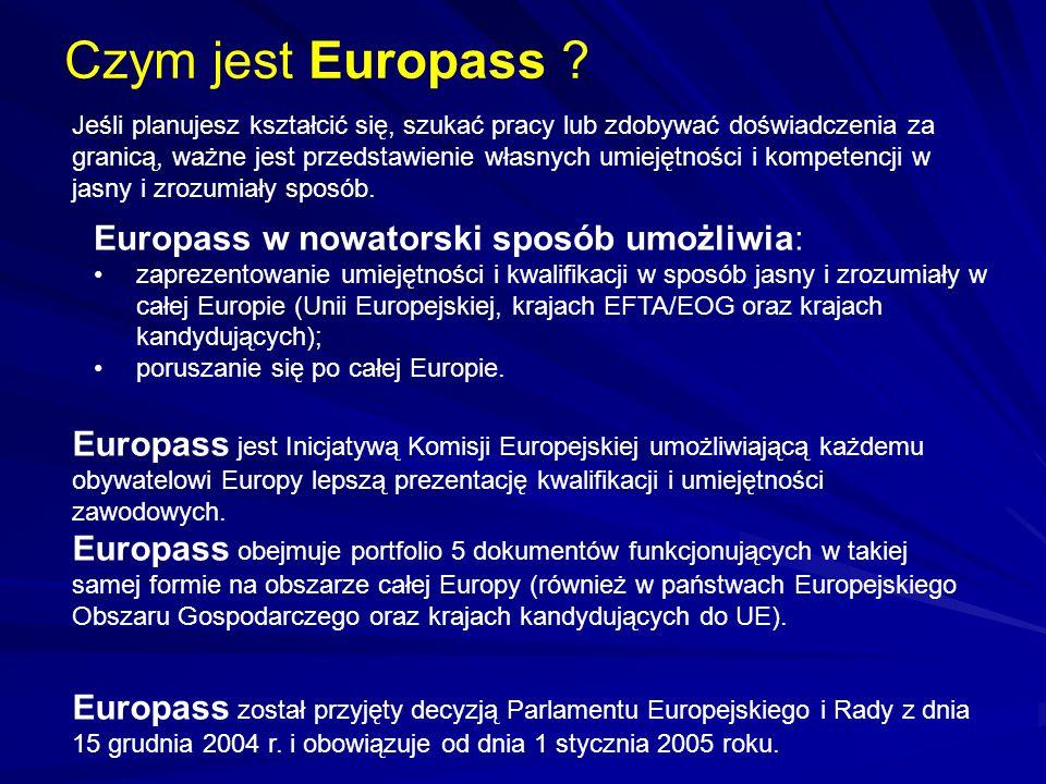 Czym jest Europass ? Jeśli planujesz kształcić się, szukać pracy lub zdobywać doświadczenia za granicą, ważne jest przedstawienie własnych umiejętnośc