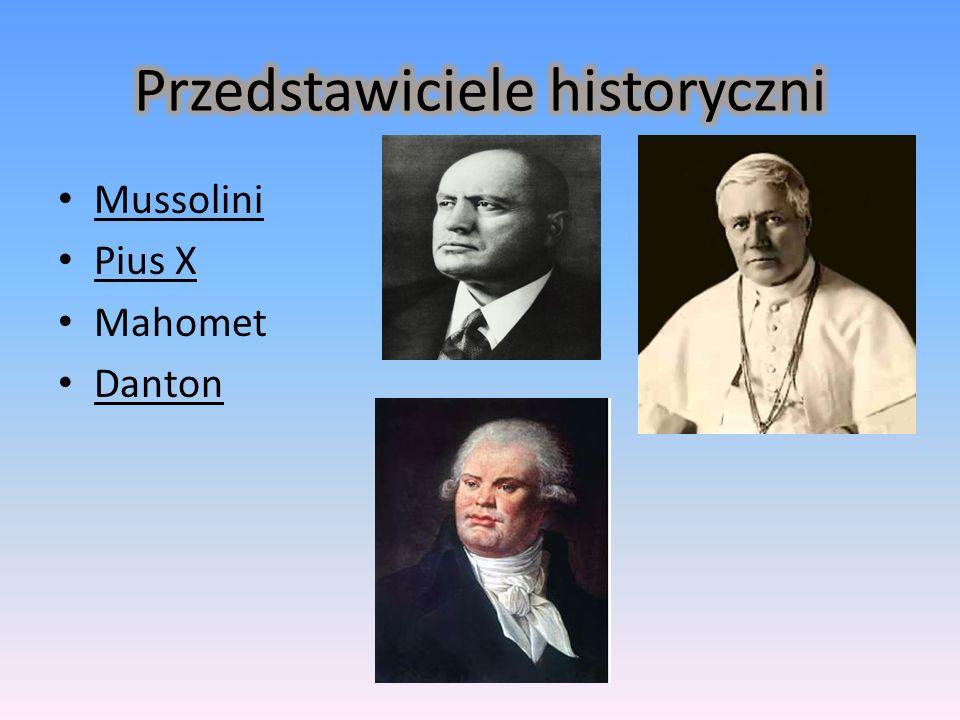 Mussolini Pius X Mahomet Danton