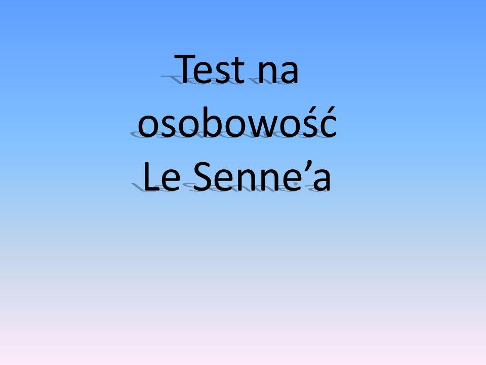 Test na osobowość Le Sennea