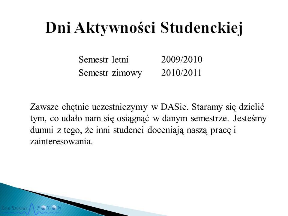 Zawsze chętnie uczestniczymy w DASie.