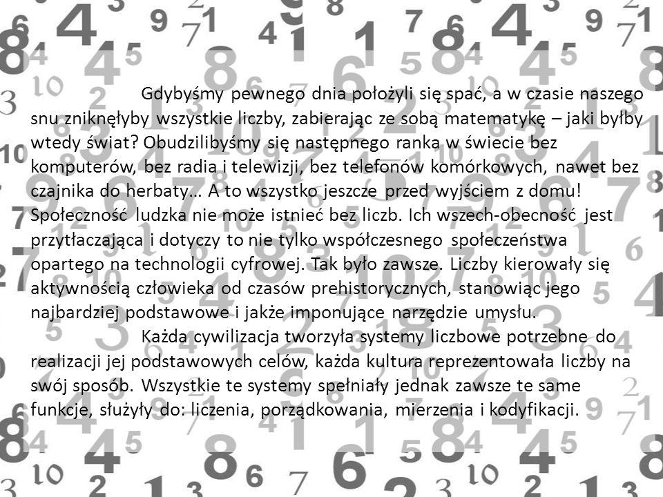 Gdybyśmy pewnego dnia położyli się spać, a w czasie naszego snu zniknęłyby wszystkie liczby, zabierając ze sobą matematykę – jaki byłby wtedy świat? O