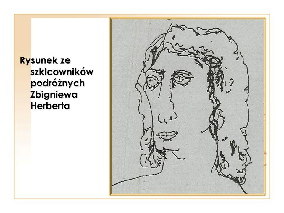 Rysunek ze szkicowników podróżnych Zbigniewa Herberta